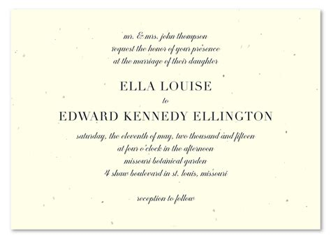 eco friendly wedding invitations  seeded paper solid
