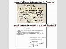 Perbedaan Naskah Proklamasi Tulisan Tangan Soekarno dengan