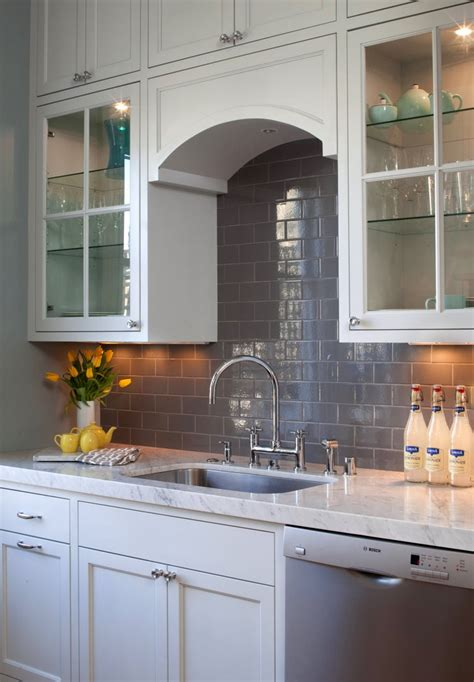gray backsplash white cabinets house of fifty winter spring 2012 grey subway tiles