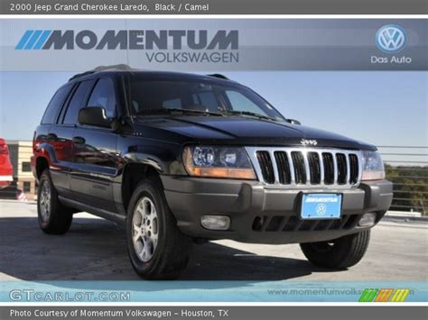 2000 jeep cherokee black black 2000 jeep grand cherokee laredo camel interior