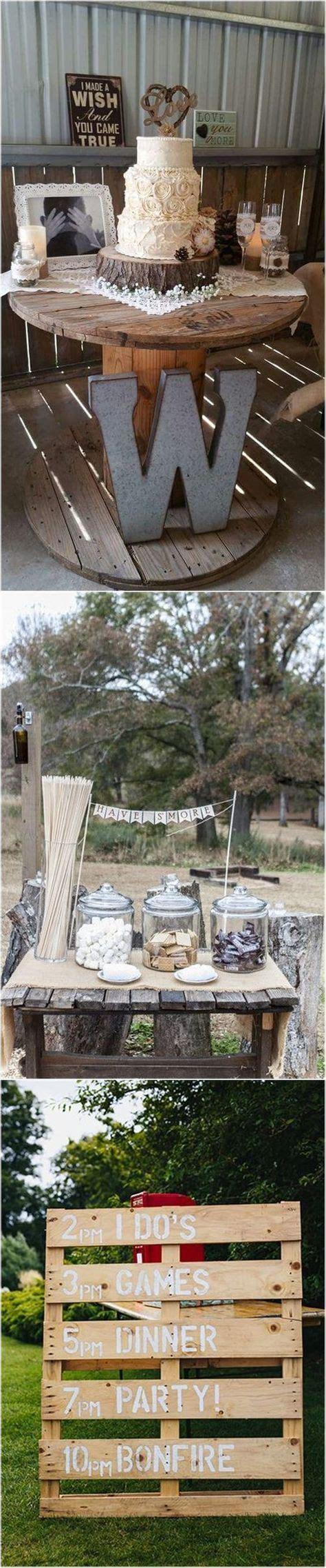 22 Rustic Backyard Wedding Decoration Ideas on A Budget   Backyard wedding decorations, Rustic