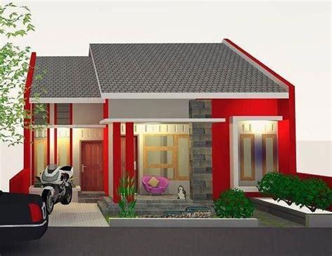 desain rumah minimalis type   lantai warna merah