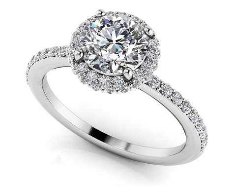 Enchanting Halo Diamond Engagement Ring