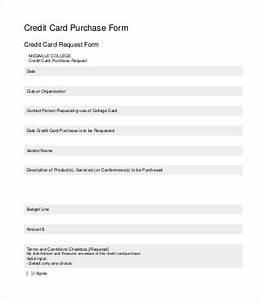 Credit Card Payment Authorization Form Template Credit Card Form Template 9 Free Sample Example