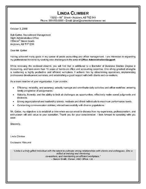 Cover Letter Sle Administrative Assistant by 14 Sle Cover Letter Administrative Assistant Riez