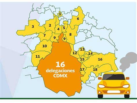 delegaciones municipios  puedo circular son zona