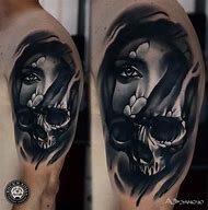 Skull Tattoo Women Faces