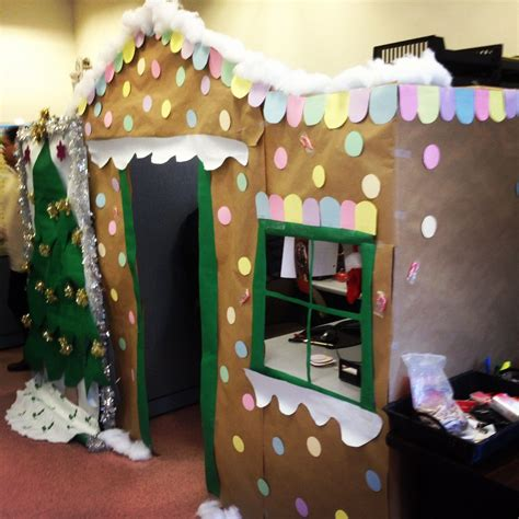gingerbread house office cubicle decorations turn your cubicle into a gingerbread house for office decor