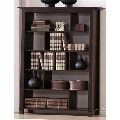 Ebay Bookcases by Baxton Brown Wood Modern Bookcase For Sale