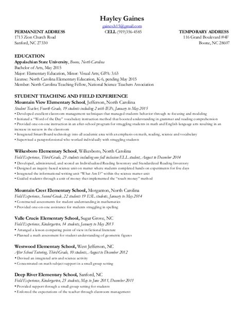 Resume Temp To Permanent by Resume 2015
