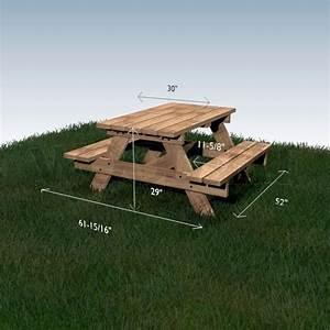plan pour fabriquer une table de jardin en bois evtod With plan pour fabriquer une table de jardin en bois