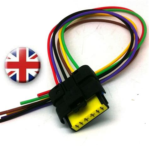 rear light wiring harness connector renault clio mk 3 pigtail ebay