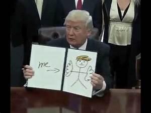 President Trump Signing Executive Orders - Trump Draws- Me ...