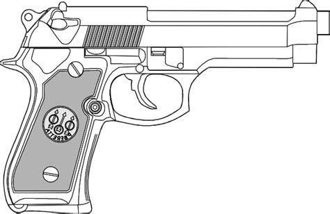 pistol outline clip art  clkercom vector clip art
