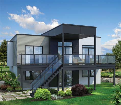 plan pm  bed modern house plan  sloping lot