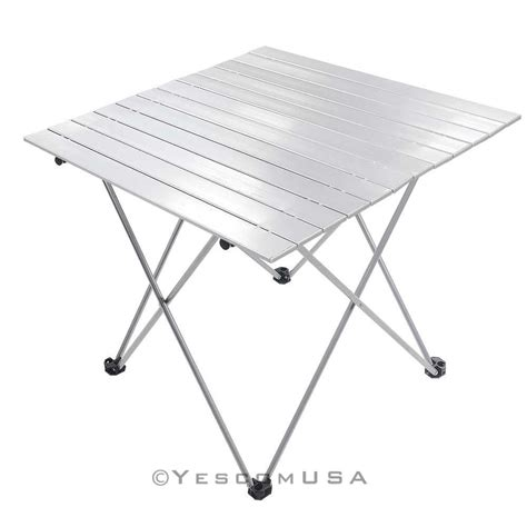 roll up aluminium table aluminum roll up table folding cing outdoor indoor