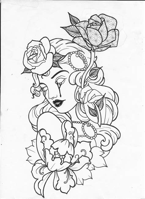 Pin by Madison Monroe Johnson on Adult coloring pages | Tattoo drawings, Skull coloring pages