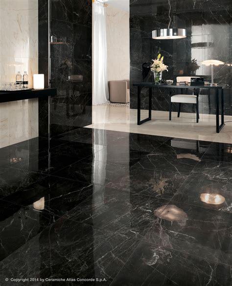 carrelage imitation marbre noir carrelage de sol en gr 232 s c 233 rame poli aspect marbre marvel pro atlas concorde vid 233 os
