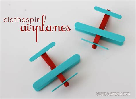 clothespin crafts diy airplane party favors
