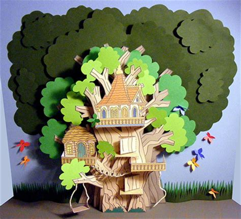paper tree house   house