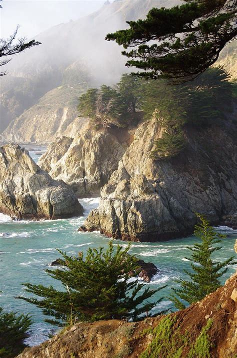 Secluded Big Sur Cove Ca Hills And Mountain Big Sur