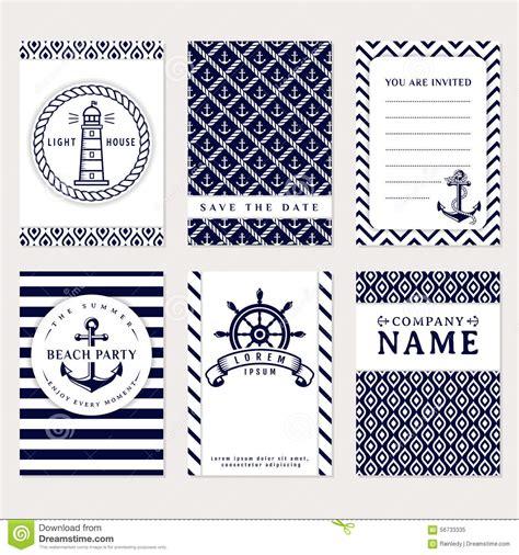 sea banners vector card templates stock vector image