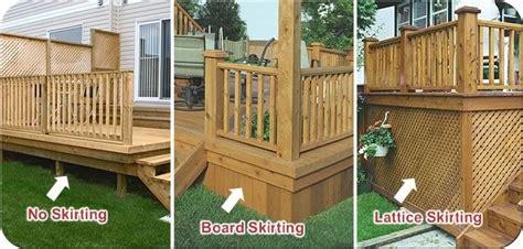 stunning deck skirting ideas    home deck