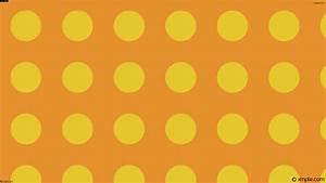 Wallpaper orange spots yellow dots polka #e5912d #e5c82d ...