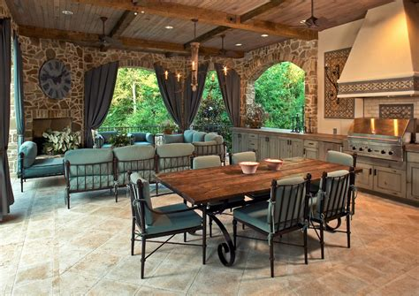 covered outdoor kitchens perfect  summer