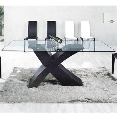 table salle verre pied clasf