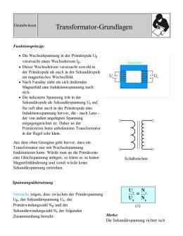 zusammenfassung wq transformatoren der transformator