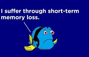 Dory Suffers Through Short-Term Memory Loss by ...