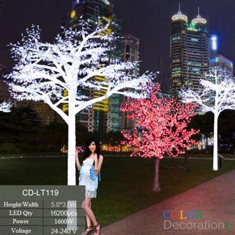 cd lt white outdoor led lighted trees wedding