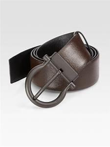 Ferragamo Reversible Gancini Belt in Brown for Men | Lyst
