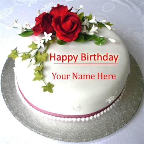 write   beautiful rose birthday cake images