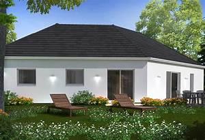 Maison Plain Pied En L : construction maison plain pied avec habitat concept ~ Melissatoandfro.com Idées de Décoration