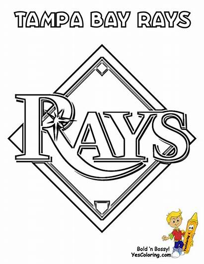 Coloring Baseball Pages Tampa Rays Bay Yescoloring