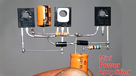 Mini Power Audio Amplifier Circuit Using Transistor