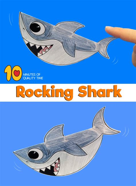 rocking shark craft  minutes  quality time
