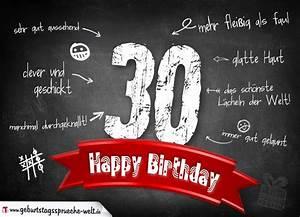 Geburtstagssprüche 30 Lustig Frech : komplimente geburtstagskarte zum 30 geburtstag happy birthday geburtstagsspr che welt ~ Frokenaadalensverden.com Haus und Dekorationen