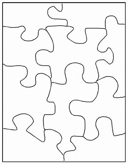 Puzzle Coloring Printable Piece Templates Pages Puzzles