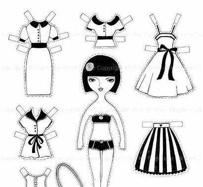 Cut Printable Outs Paper Coloring Doll Cutouts