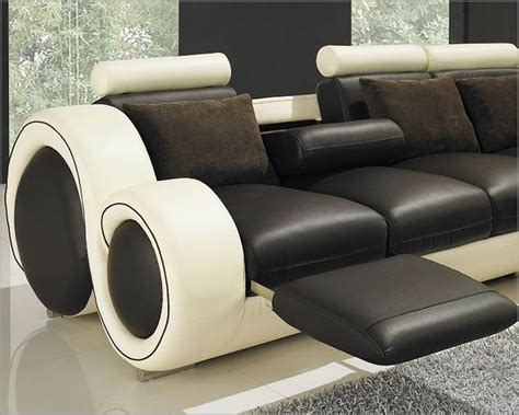 modern  tone leather sectional sofa set  recliners