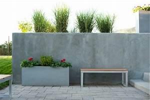 Gartenzaun Aus Beton : betonzaun eine elegante innenhofgestaltung erreichen ~ Sanjose-hotels-ca.com Haus und Dekorationen
