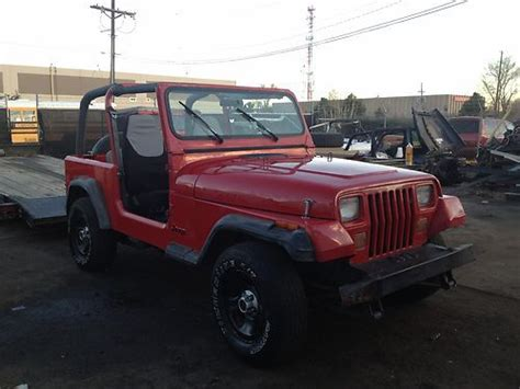 all car manuals free 1994 jeep wrangler spare parts catalogs sell used 93 jeep wrangler yj sport stock 2 5 4 cyl 4x4 5 speed manual rust free will ship in