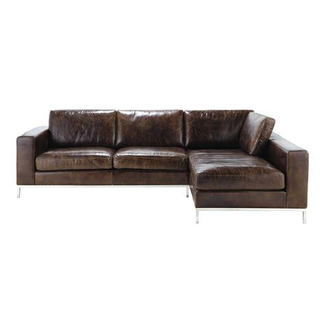 canape vintage marron 30 merveilleux canape angle cuir marron lok9 meubles