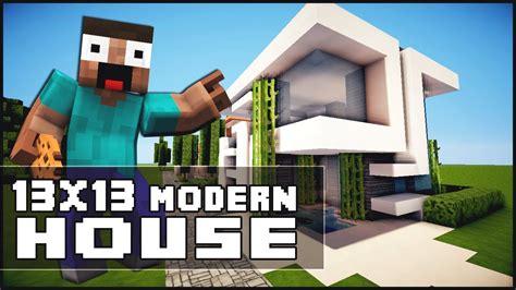 minecraft house tutorial  modern house youtube