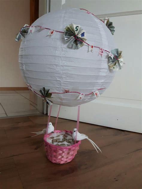 heißluftballon basteln geschenk hei 223 luftballon hochzeit bastelkram hei 223 luftballon luft und basteln
