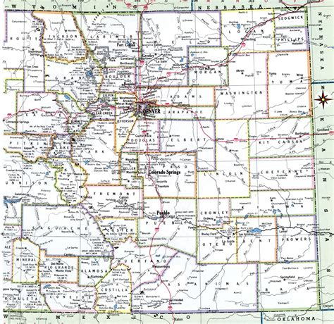 colorado county map  cities  travel information
