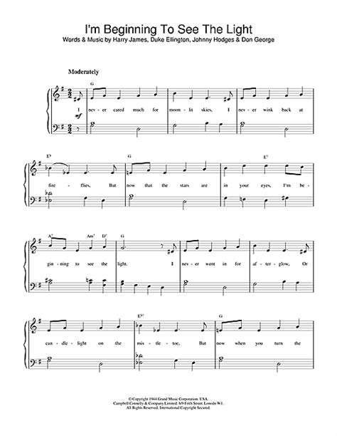 i see the light piano pdf i 39 m beginning to see the light sheet music by duke